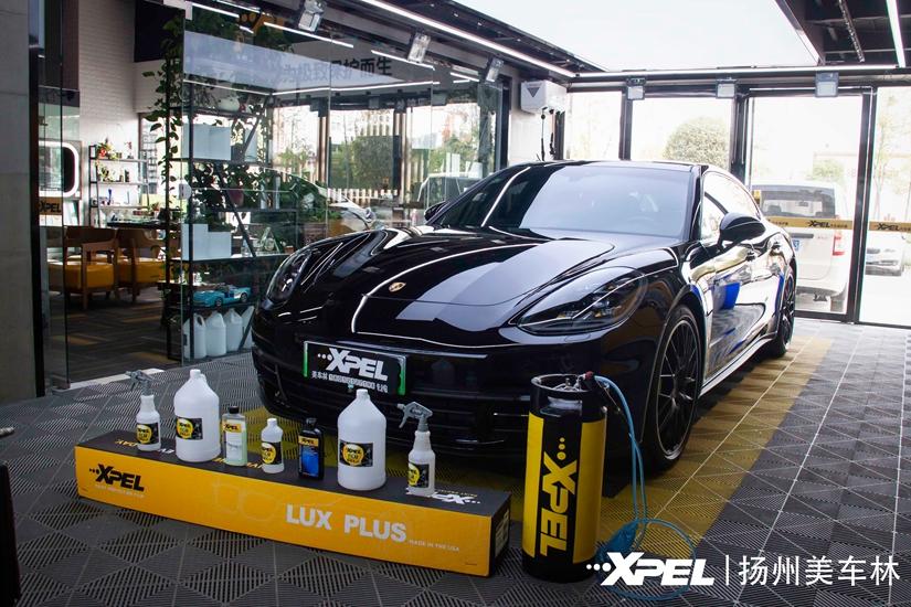 保时捷帕拉梅拉油电混合车贴雷竞技好不好用太阳膜+Xpel漆面保护膜案例