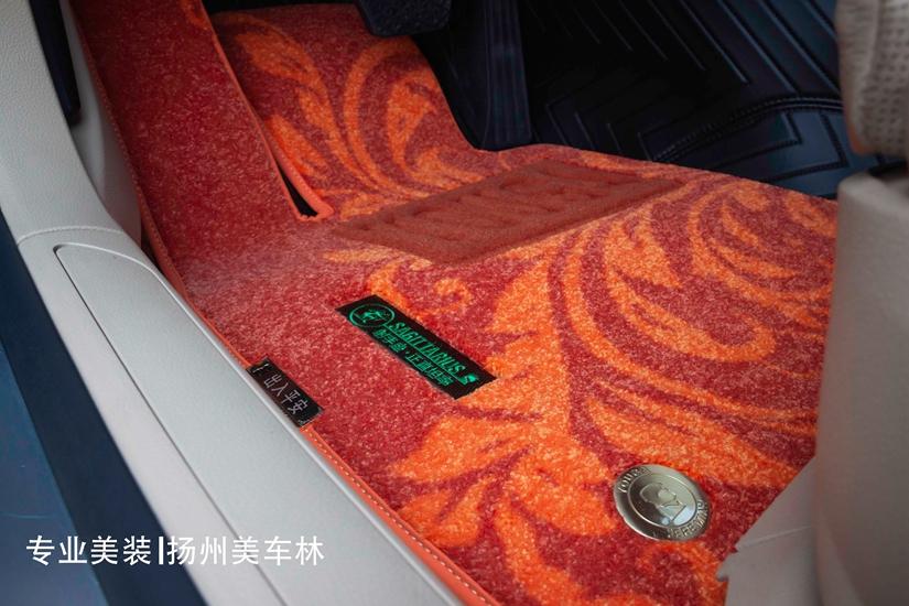 宝马730L更换软包脚垫