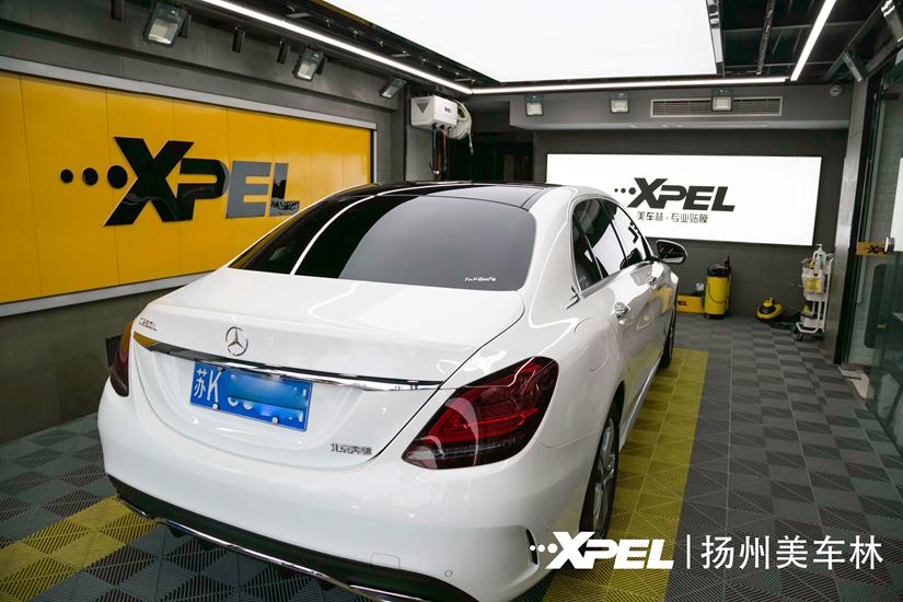 奔驰C260L贴Xpel透明膜